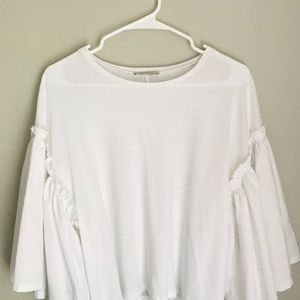 Zara Bell Sleeve Cotton Shirt